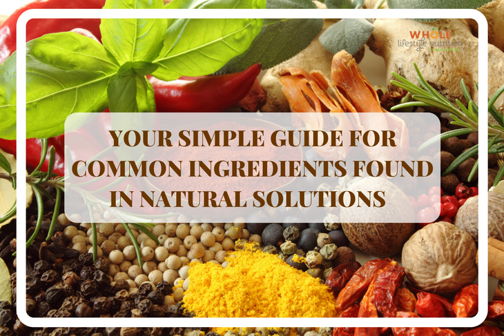 Your Simple Guide For Common Ingredients Found In Natural Solutions | WholeLifestyleNutrition.com