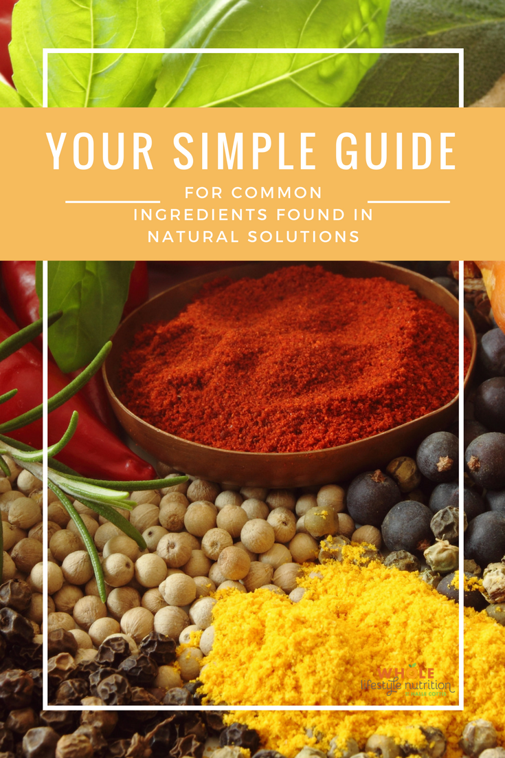 Your simple guide for ingredients found in natural solutions! | WholeLifestyleNutrition.com