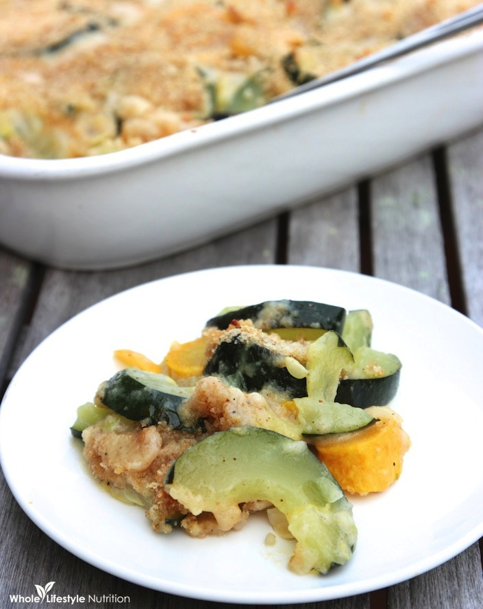 Zucchini and Squash Au Gratin | WholeLifestyleNutrition.com