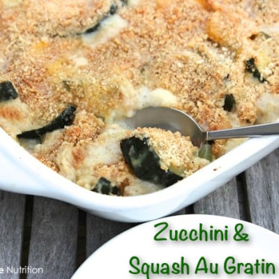 Organic Zucchini and Squash Au Gratin Recipe