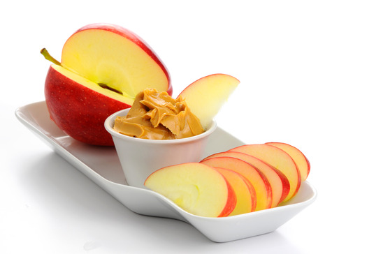 Apples and Almond Butter l wholelifestylenutrition.com