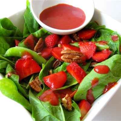 Spring Organic Harvest Salad With Fresh Berry Dressing Recipe