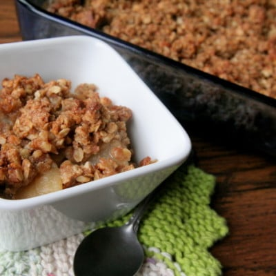 Celebrating Natural Sugars – Organic Apple, Pear, and Almond Crumble {aka Crisp} Recipe