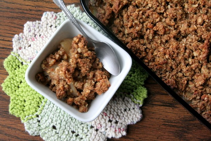A Wholesome Celebration of Natural Sugars - Cinnamon Apple, Pear, and Almond Crumble | WholeLifestyleNutrition.com