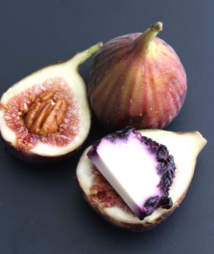 Prosciutto Wrapped Pecan & Blueberry Goat Cheese Stuffed Fig Recipe | WholeLifestyleNutrition.com