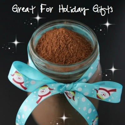 Homemade Organic Hot Cocoa Mix Recipe {A Perfect Gift For The Holidays}!
