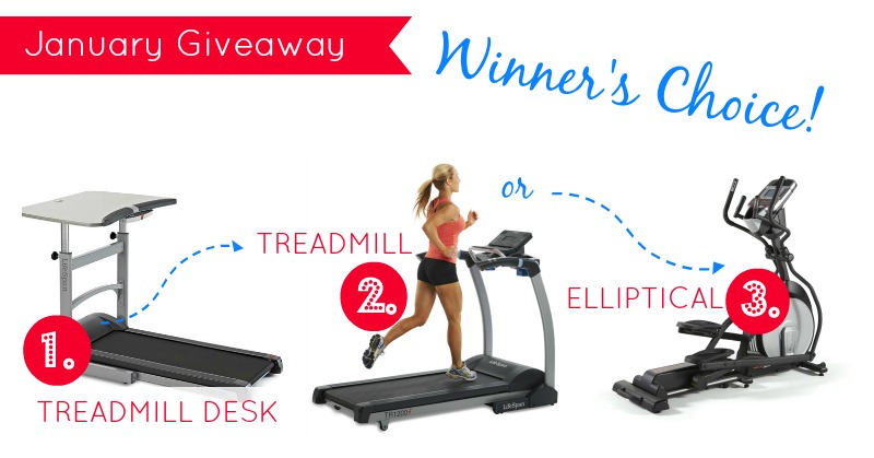 January's Giveaway, winners choice: treadmill desk, treadmill, or elliptical | Wholelifestylenutrition.com