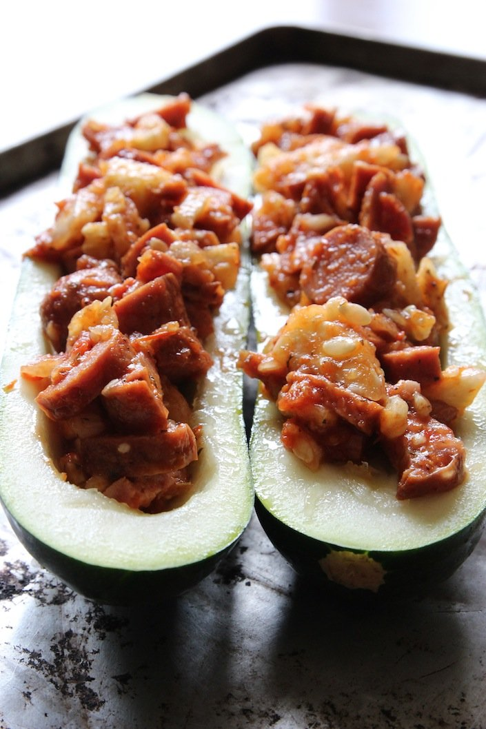Organic Pizza Zucchini Boats Recipe| WholeLifestyleNutrition.com