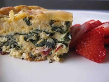 Spinach and Bacon Bake, Holistic Recipe