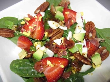 Spinach Salad with Hot Bacon Dressing, Holistic Recipe