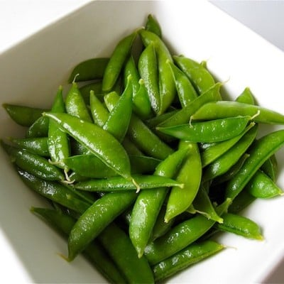 Organic Sugar Snap Peas In A Lemon Butter Sauce Recipe
