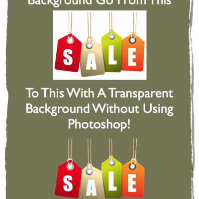 How To Make An Image Background Transparent Without Using Photoshop!